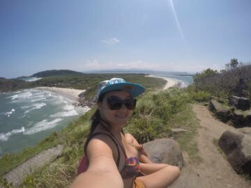 Vista do Farol das Conchas na Ilha do Mel