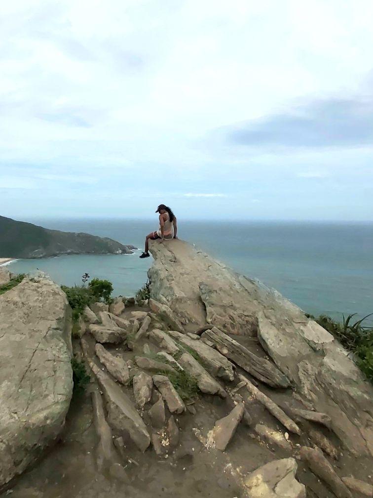 Morro da Coroa na Trilha da Lagoinha do Leste
