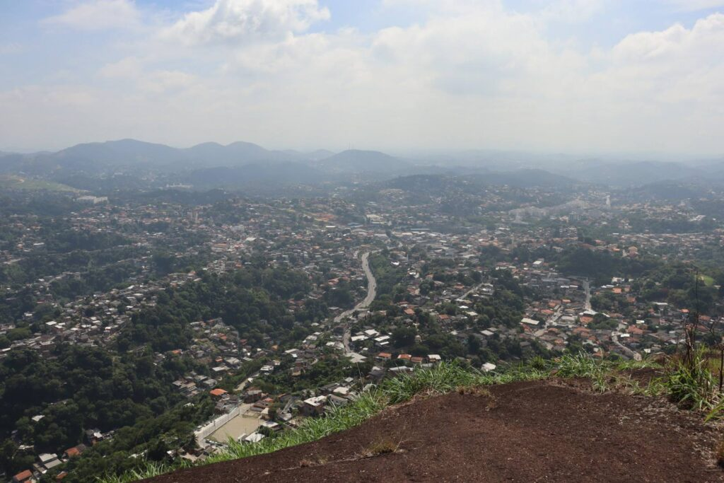 Cidade vista do Morro Santo Inácio Niterói