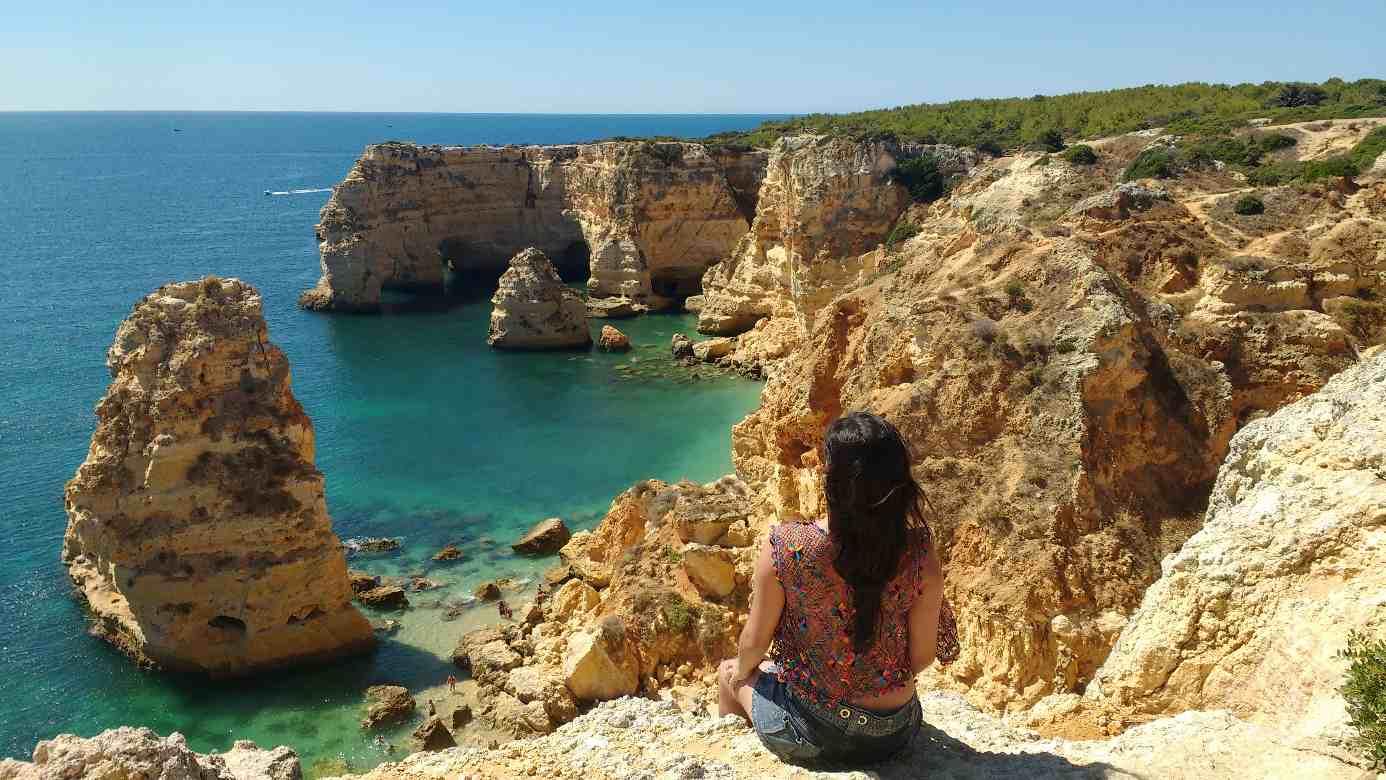 Algarve no sul de Portugal