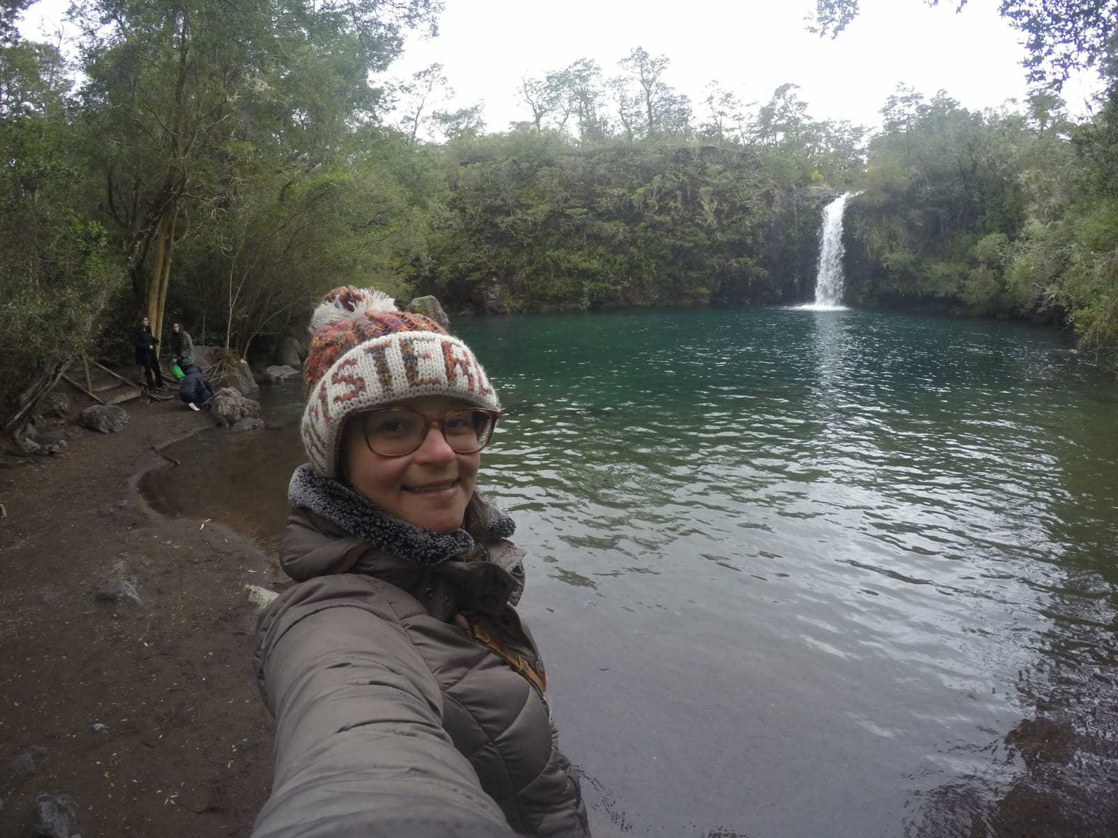 Cachoeira em Puerto Varas nos Lagos Andinos
